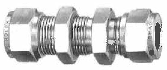 Item bu gyrolok bulkhead union on circle valve