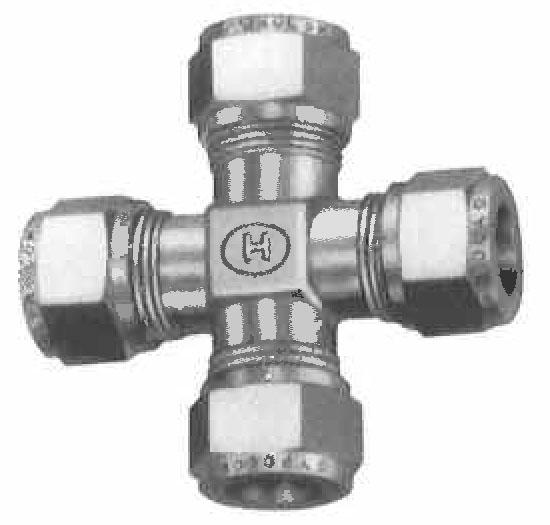 Item c gyrolok union cross on circle valve