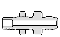 Truelok Face Seal to Male Bulkhead NPT Connector